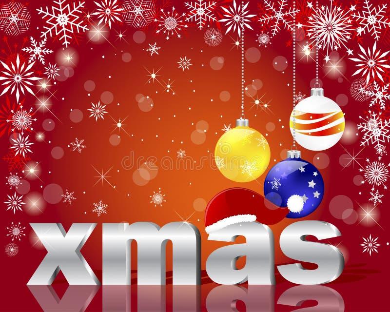 ασημένια Χριστούγεννα λέξ&eta ελεύθερη απεικόνιση δικαιώματος