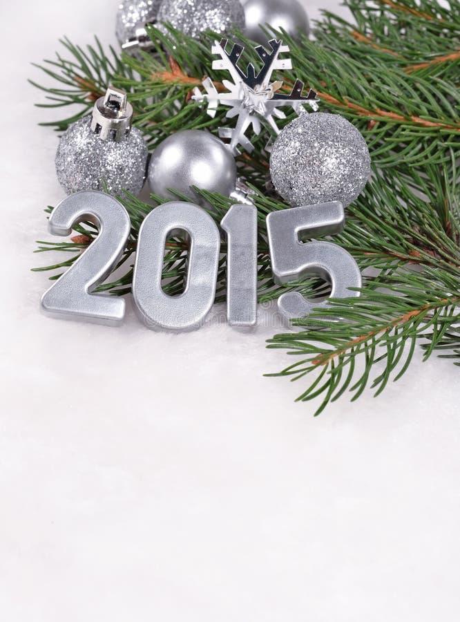 ασημένιοι αριθμοί έτους του 2015 στοκ εικόνες με δικαίωμα ελεύθερης χρήσης