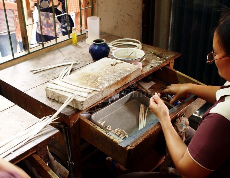 Ασημένιος βιοτέχνης στοκ φωτογραφία με δικαίωμα ελεύθερης χρήσης