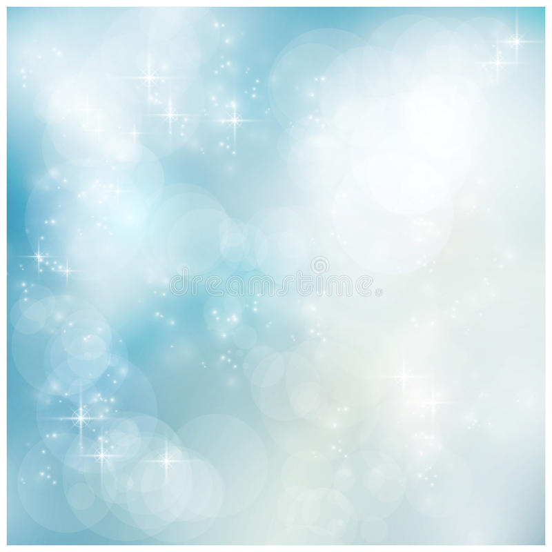 Ασημένιος μπλε χειμώνας, Χριστούγεννα bokeh ελεύθερη απεικόνιση δικαιώματος