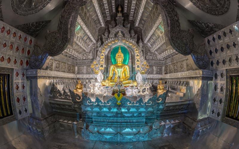 Ασημένιος ναός στη νύχτα στοκ φωτογραφίες με δικαίωμα ελεύθερης χρήσης