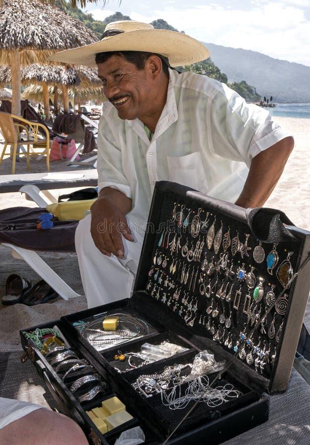 Ασημένιος προμηθευτής Playa Las Estacas Μεξικό στοκ φωτογραφία