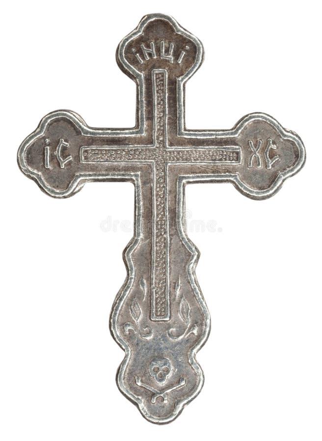 Ασημένιος σταυρός στοκ εικόνες με δικαίωμα ελεύθερης χρήσης