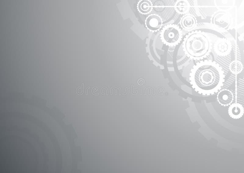 ασημένιος τεχνολογικός ανασκόπησης απεικόνιση αποθεμάτων