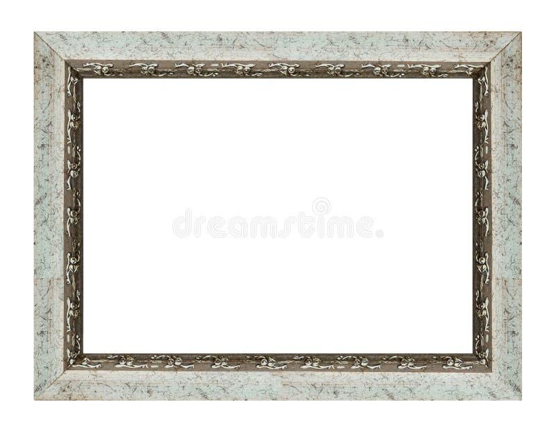 Ασημένιο άσπρο πλαίσιο στοκ φωτογραφίες με δικαίωμα ελεύθερης χρήσης