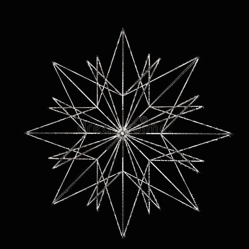 Ασημένιο αστέρι ελεύθερη απεικόνιση δικαιώματος