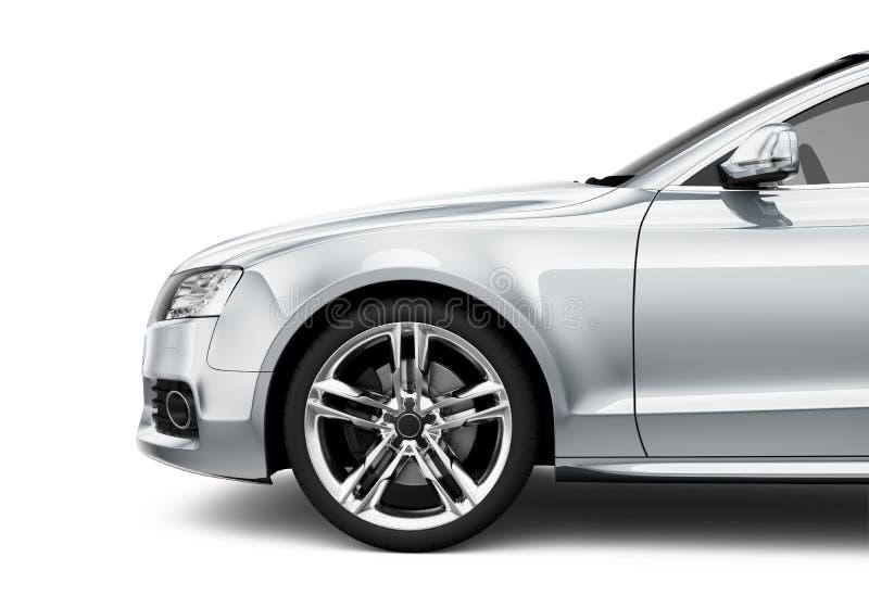 Ασημένιο αυτοκίνητο coupe απεικόνιση αποθεμάτων