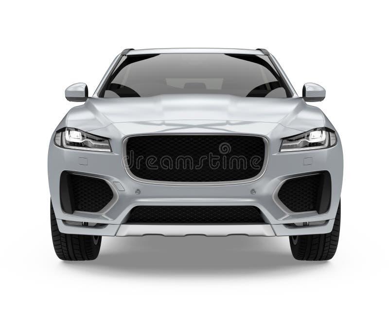 Ασημένιο αυτοκίνητο SUV που απομονώνεται ελεύθερη απεικόνιση δικαιώματος