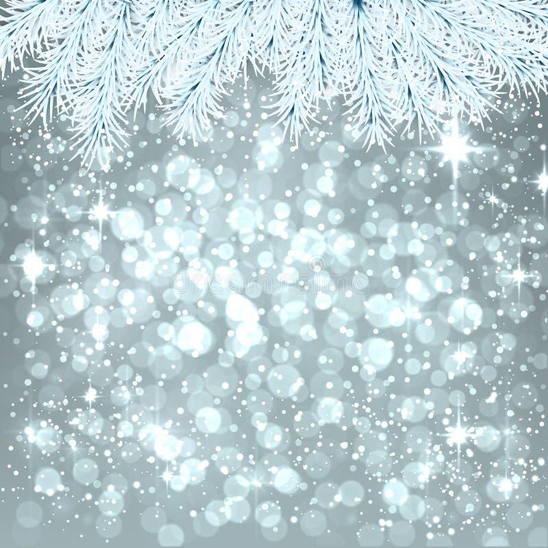 Ασημένιο αφηρημένο υπόβαθρο Χριστουγέννων. ελεύθερη απεικόνιση δικαιώματος