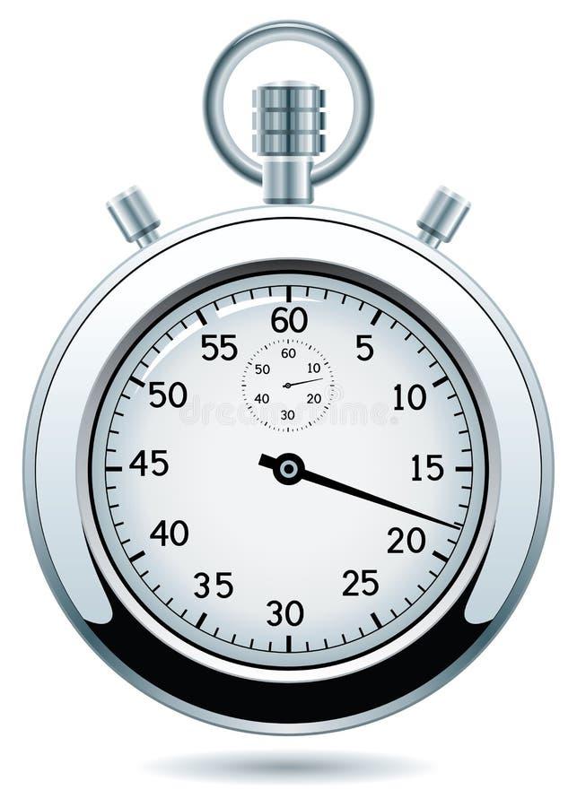 ασημένιο διάνυσμα χρονομέτρων με διακόπτη διανυσματική απεικόνιση
