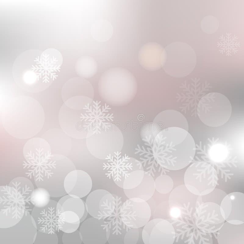 Ασημένιο διανυσματικό υπόβαθρο Χριστουγέννων διανυσματική απεικόνιση