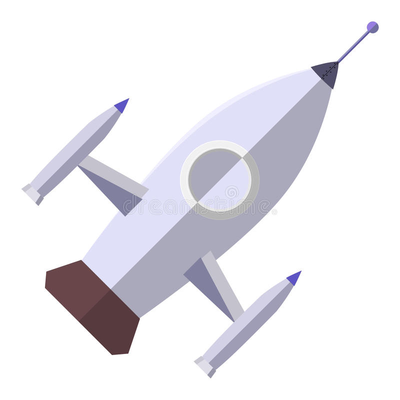 Ασημένιο διαστημόπλοιο στοκ εικόνες