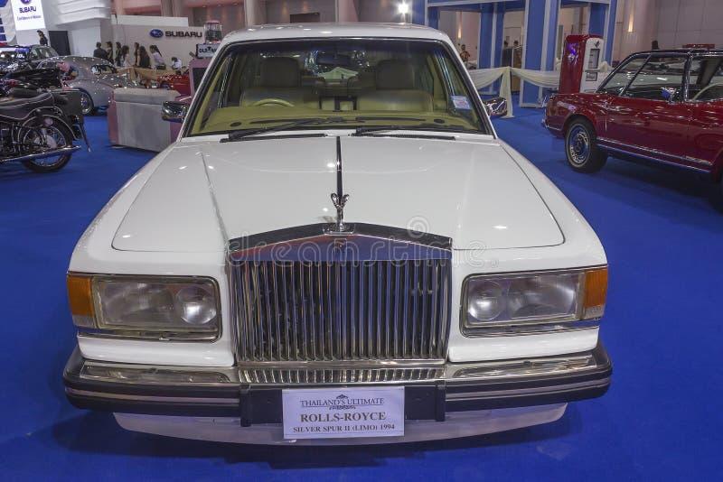 Ασημένιο κέντρισμα ΙΙ Rolls-$l*royce (λιμουζίνα) αυτοκίνητο του 1994 στοκ φωτογραφίες με δικαίωμα ελεύθερης χρήσης