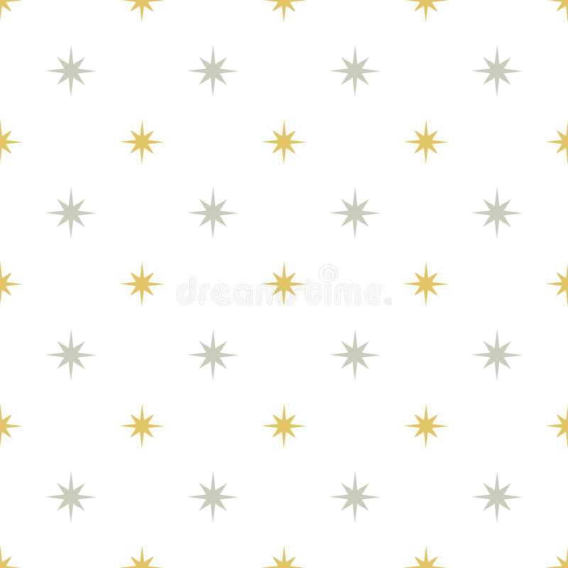 Ασημένιο και χρυσό σχέδιο αστεριών διανυσματική απεικόνιση