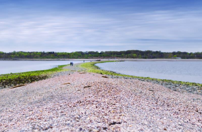 Ασημένιο κρατικό πάρκο Milford Κοννέκτικατ άμμων στοκ εικόνες