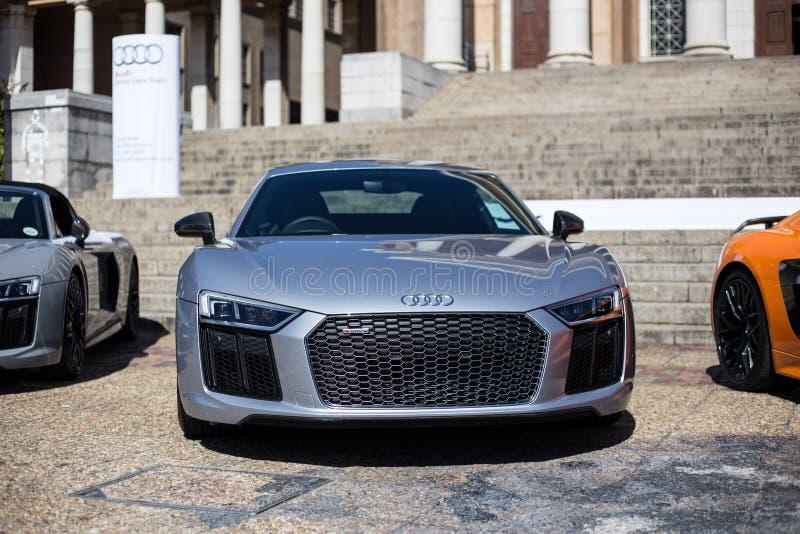 Ασημένιο μέτωπο Audi R8 στοκ εικόνες με δικαίωμα ελεύθερης χρήσης