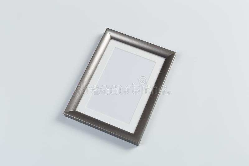 Ασημένιο πλαίσιο στο λευκό στοκ φωτογραφία