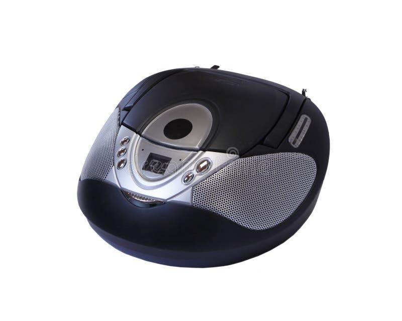 Ασημένιο στερεοφωνικό ραδιο μαγνητόφωνο του CD στοκ φωτογραφία με δικαίωμα ελεύθερης χρήσης