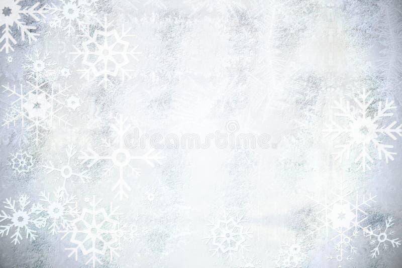 Ασημένιο σχέδιο σχεδίων νιφάδων χιονιού διανυσματική απεικόνιση