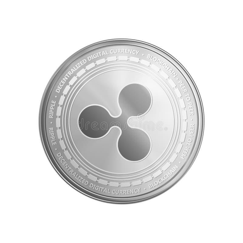 Ασημένιο σύμβολο νομισμάτων κυματισμών διανυσματική απεικόνιση