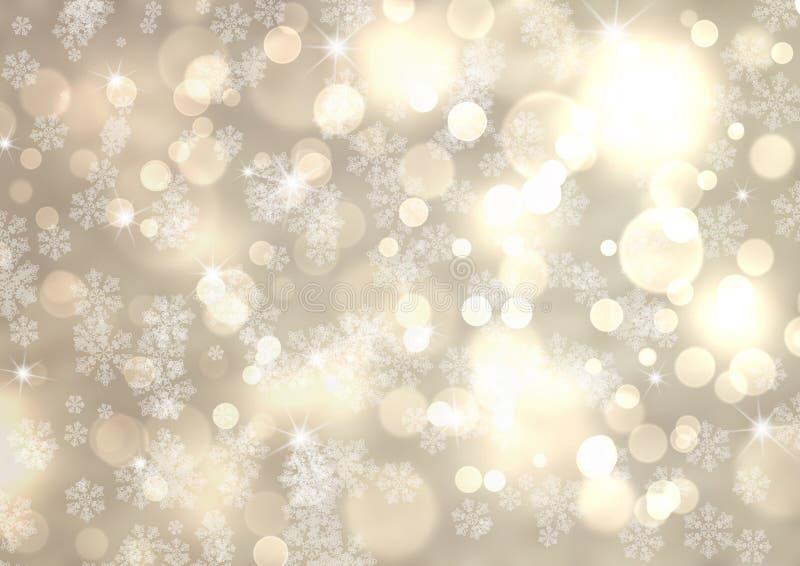 Ασημένιο υπόβαθρο χειμερινού αφηρημένο bokeh διανυσματική απεικόνιση