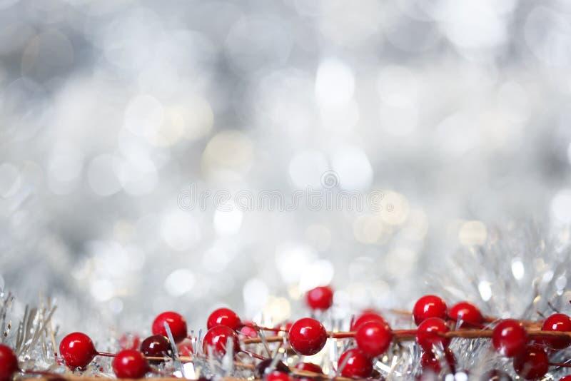 Ασημένιο υπόβαθρο Χριστουγέννων στοκ εικόνες