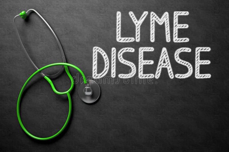 Ασθένεια Lyme χειρόγραφη στον πίνακα κιμωλίας τρισδιάστατη απεικόνιση στοκ εικόνες με δικαίωμα ελεύθερης χρήσης