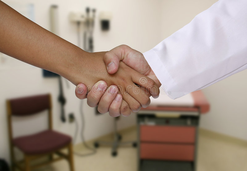 ασθενής γιατρών στοκ εικόνες