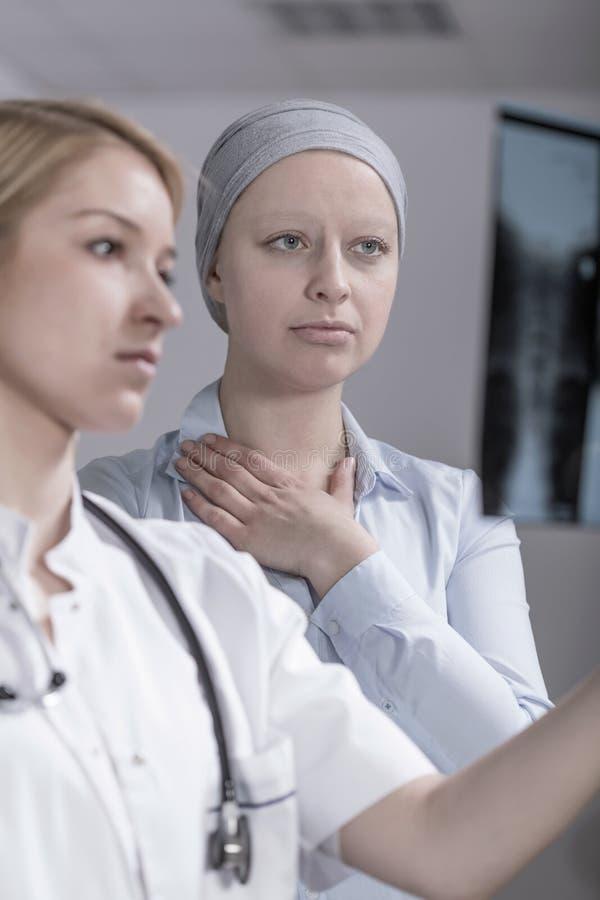 Ασθενής μετά από τη χημειοθεραπεία στοκ εικόνες