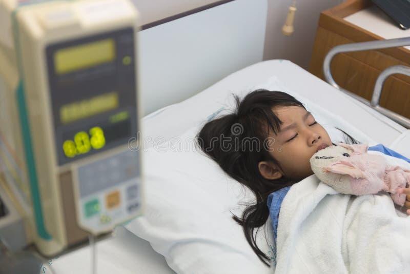 Ασθενείς ενός κοριτσιού στοκ φωτογραφία