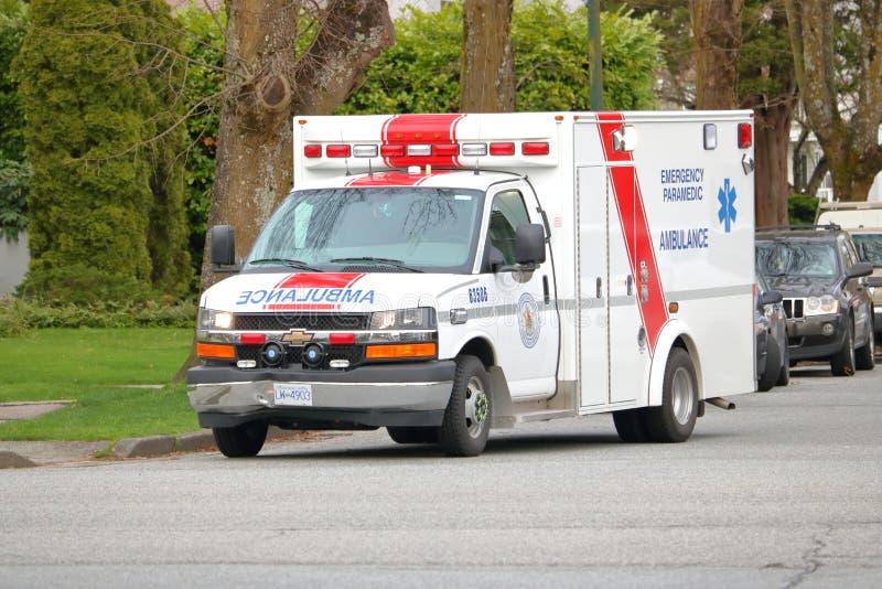 Ασθενοφόρο στο Βανκούβερ, Καναδάς στοκ εικόνα με δικαίωμα ελεύθερης χρήσης