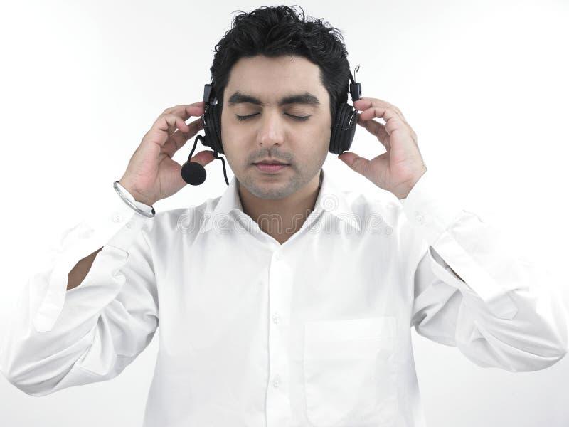 ασιατικά ακουστικά το άτ&om στοκ εικόνες