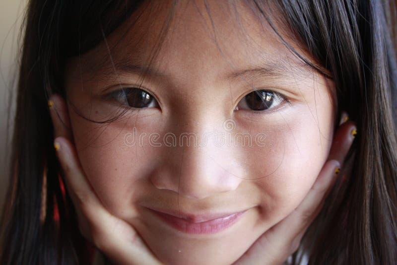 ασιατικά κορίτσια προσώπ&omic στοκ φωτογραφία με δικαίωμα ελεύθερης χρήσης