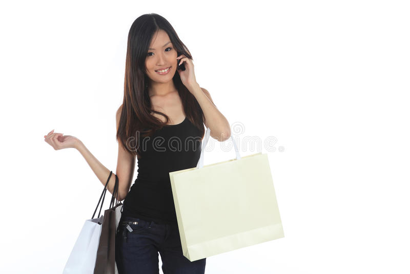 Ασιατικές αγορές γυναικών στοκ φωτογραφίες