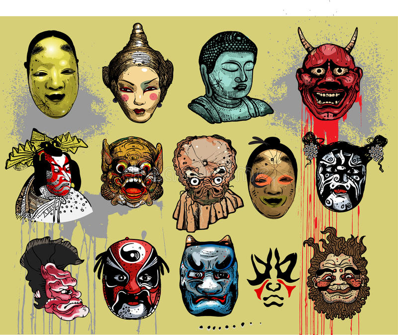 ασιατικές ανατολικές μάσ ελεύθερη απεικόνιση δικαιώματος