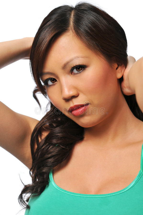 ασιατικές πανέμορφες νεολαίες γυναικών στοκ φωτογραφία