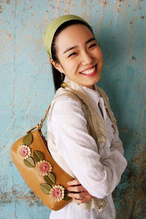 ασιατικές χαμογελώντας  στοκ εικόνες