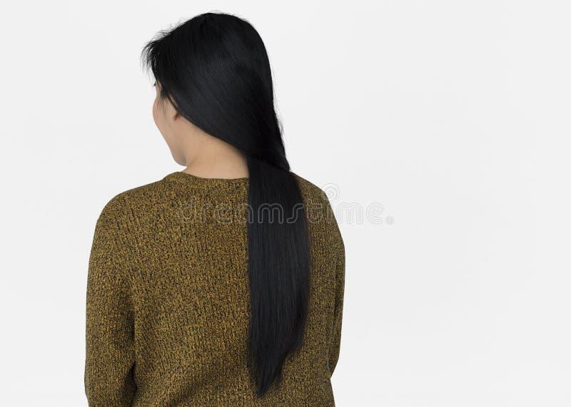 Ασιατική έννοια άποψης γυναικών πίσω στοκ φωτογραφίες