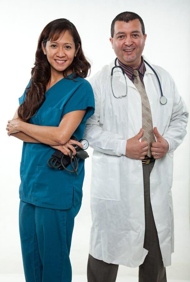 Ασιατική αμερικανική ομάδα εργαζομένων υγειονομικής περίθαλψης στοκ φωτογραφίες