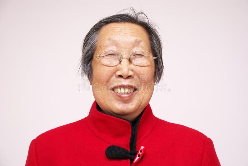 ασιατική ανώτερη χαμογε&lamb στοκ εικόνες με δικαίωμα ελεύθερης χρήσης