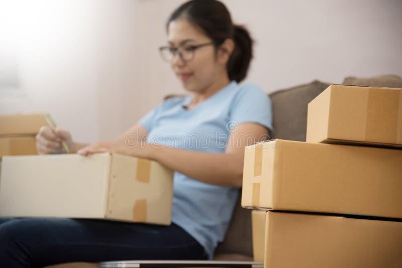 Ασιατική γυναίκα με την επιχείρηση στοκ εικόνα