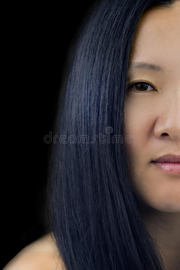 ασιατική γυναίκα προσώπο& στοκ φωτογραφίες