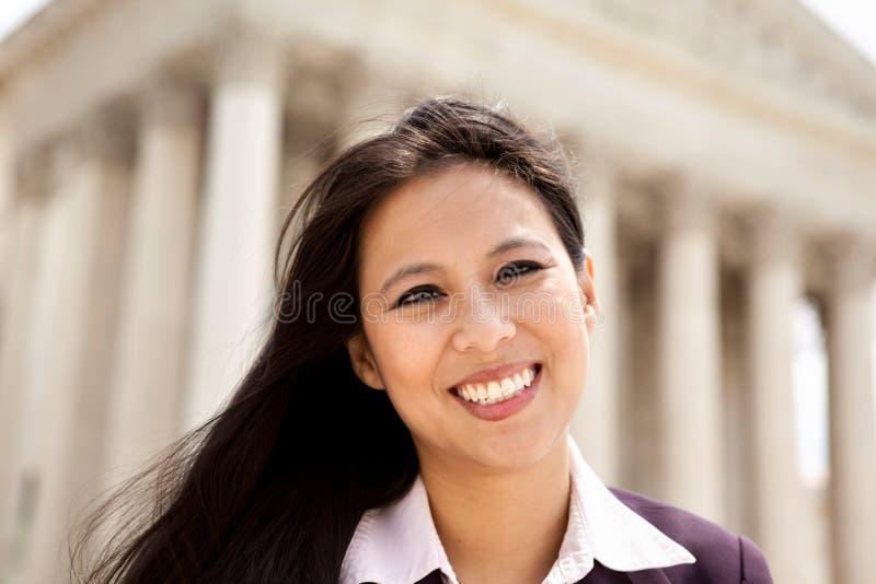 Ασιατική γυναίκα στο Κάπιτολ Χιλλ στοκ εικόνες