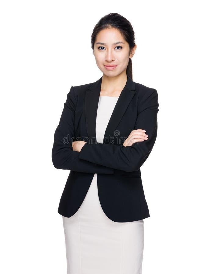 Ασιατική γυναίκα crosshand στοκ εικόνα με δικαίωμα ελεύθερης χρήσης