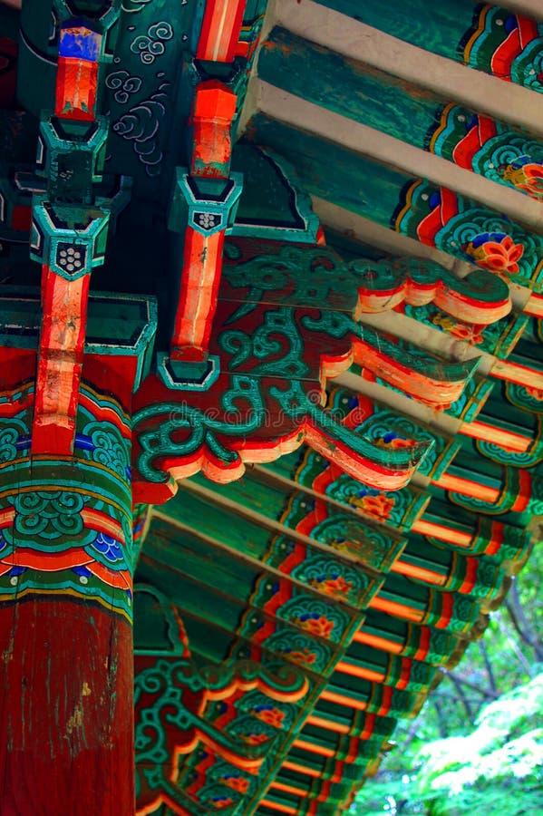 Ασιατική λεπτομέρεια οικοδόμησης στοκ εικόνες