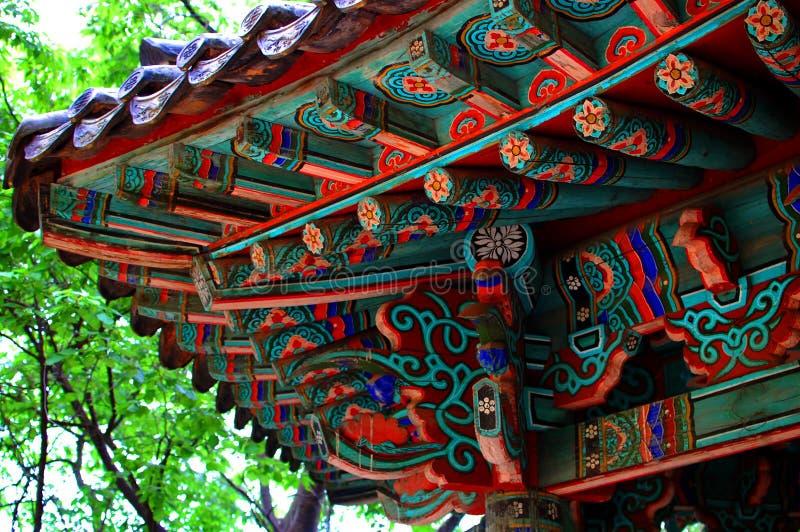 Ασιατική λεπτομέρεια οικοδόμησης στοκ φωτογραφία