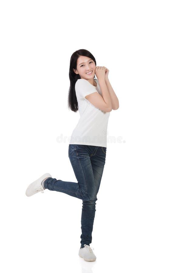 ασιατική εύθυμη γυναίκα στοκ εικόνες