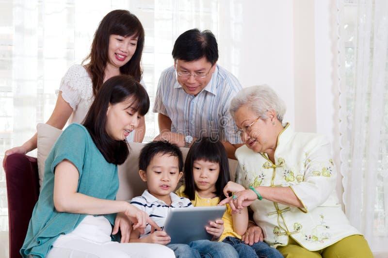 Ασιατική οικογένεια στοκ εικόνες με δικαίωμα ελεύθερης χρήσης