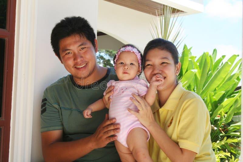 ασιατική οικογενειακή  στοκ φωτογραφίες