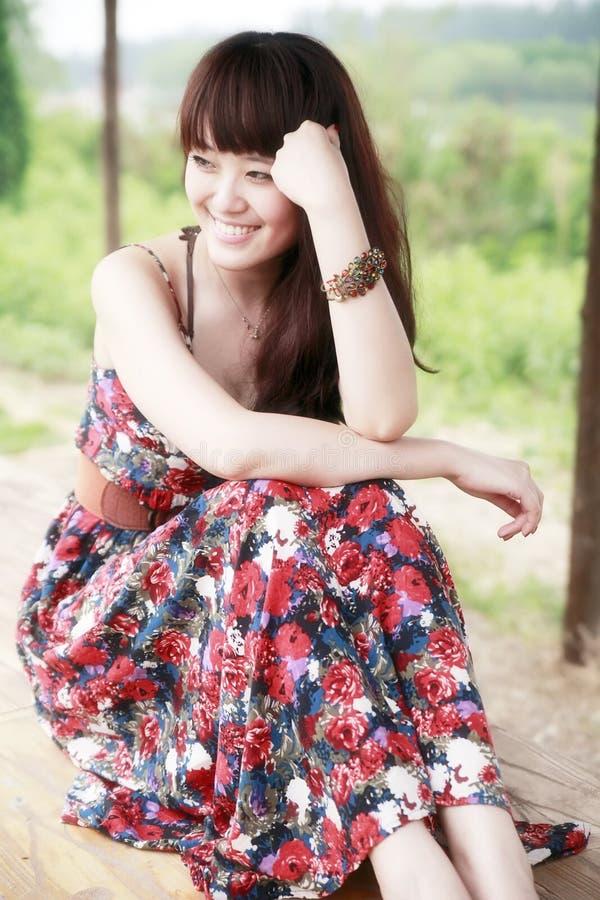 ασιατική ομορφιά υπαίθρι&alp στοκ φωτογραφίες με δικαίωμα ελεύθερης χρήσης